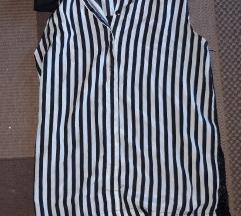 Crno-bijela prugasta bluza bez rukava