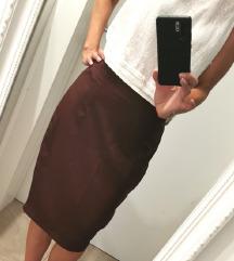 Pencil bordo suknja
