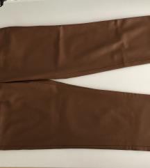 NOVE ZARA smeđe hlače od umjetne kože