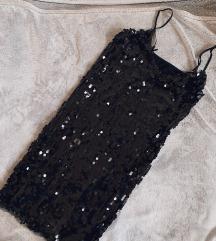Crna haljina sa sjajnim ljuskicama - novo