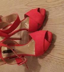 ZARA crvene sandale