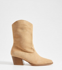 😊 MOHITO Kaubojske čizme od brušene kože