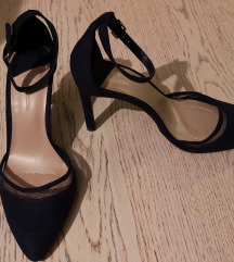 Tamnoplave cipele s visokom potpeticom