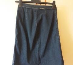 Midi traper jeans suknja M/L