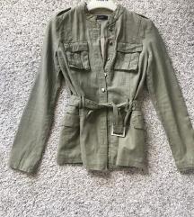 Veromoda maslinasta lanena jakna vel XS-S