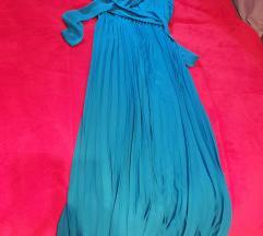 ZARA plava  elegantna haljina s