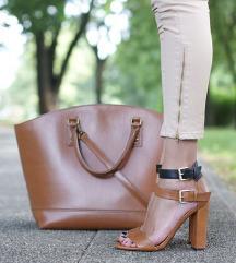 ZARA kožne smeđe sandale vel 38