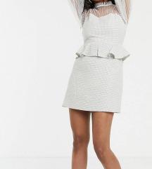 Misguided peplum tweed haljina