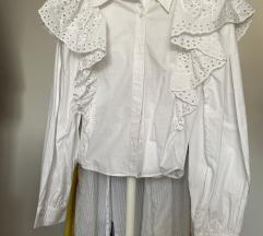 ZARA bijela košulja s volanima