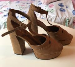 Smeđe sandale nove 38