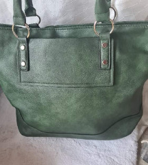 Nova zelena torba s ruckom