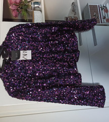 Zara sequined top