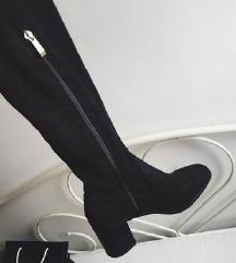 🖤 NOVE ZARA CRNE over the knee čizme 40