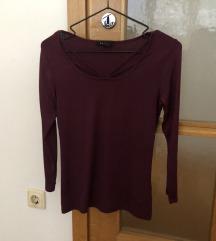 Amisu bordo majica s trakicama
