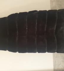 Crno krzno prsluk
