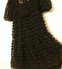 Zara 3D crna haljina L-XL, 1xnosena