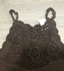 crochet top smeđi 38