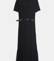 Zara nova haljina s baršunastim ispupčenim točkama