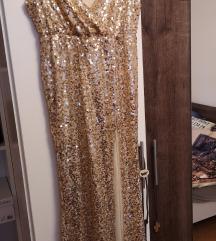 Maxi glitter haljina