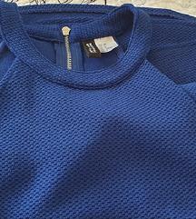 H&M plava skater haljina