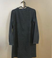 ZARA zimska siva haljina