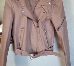 Baby pink kožna jakna