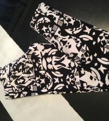 Crno bijele traperice hlace