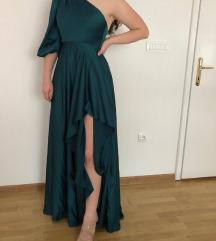 Prekrasna zelena haljina