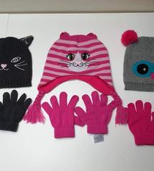 Komplet kapa+rukavice 3-8