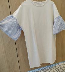 Haljina bijela s 'košulja' rukavima