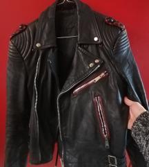 Vintage bikerska jakna vel.36, prava koža