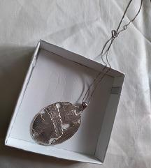 NOVO srebrna ogrlica unikat