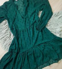 Smaragdno zelena Stradivarius Haljina S/M