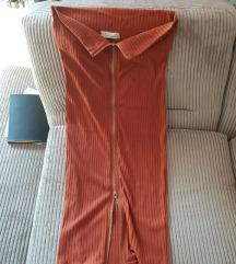 Narančasta/smeđa haljina nova
