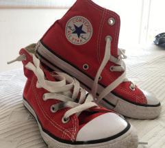 Visoke, crvene Converse All Star dječje tenisice