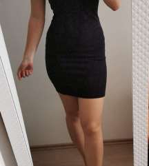 Tamno modra mini haljina