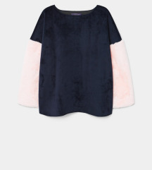 Mng Violeta sweatshirt s krznenim rukavima