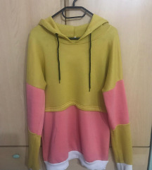 Kul žuti oversized hoodie / hudica