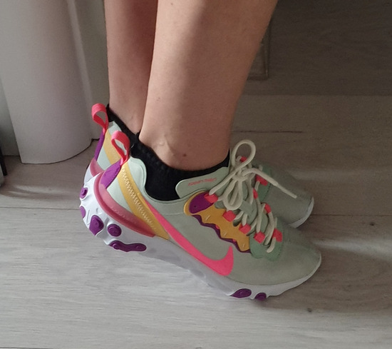 Nike React Element 55 Pistachio Frost/Digital Pink