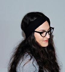 Novi crni turban od pletenine