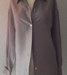 Siva svilena košulja 40 besplatna dostava