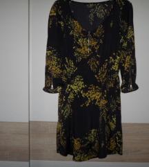 ZARA TRF crno žuta haljinica vel.S