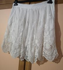 Zara bijela mini suknja 38