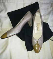 FERRAGAMO Vintage cipele na petu koža
