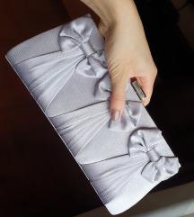 🥰Mala svecana saten torbica sive boje🥰