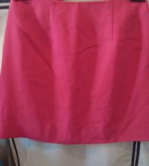 Rozna vunena mini suknjica