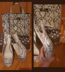 Novi LOT Zara torba i sandale br.39 manji kalup