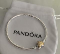 Pandora zlatno srce narukvica