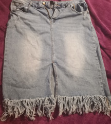 Jeans suknja s resama