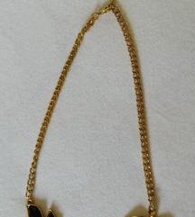 H&M zlatno crna ogrlica